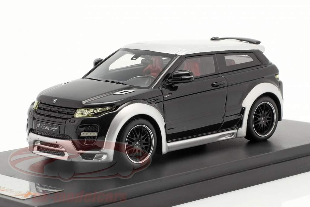 Range Rover Evoque door Hamann Jaar 2012 zwart / zilver 1:43 Premium X
