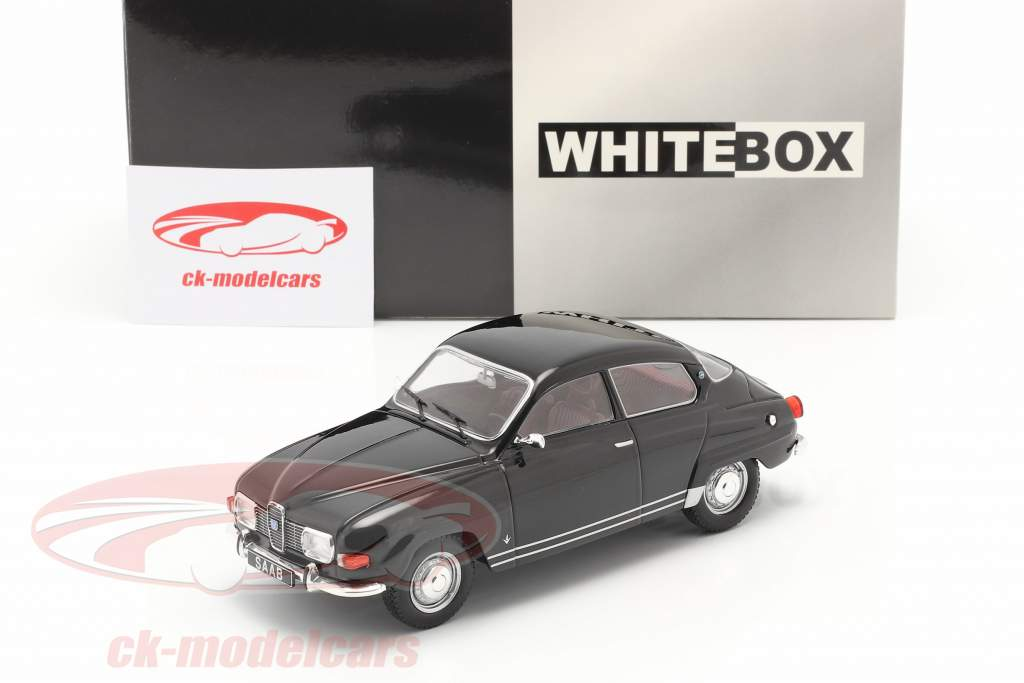 Saab 96 V4 Année de construction 1970 noir 1:24 WhiteBox