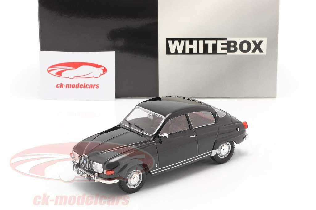 Saab 96 V4 Bouwjaar 1970 zwart 1:24 WhiteBox
