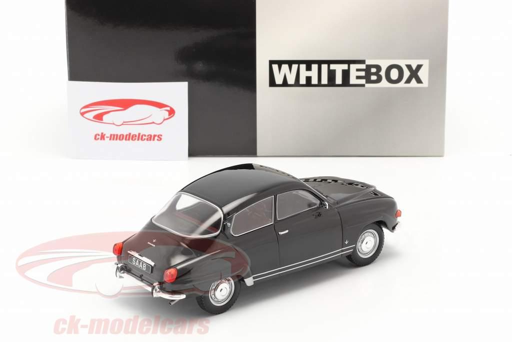 Saab 96 V4 Ano de construção 1970 Preto 1:24 WhiteBox