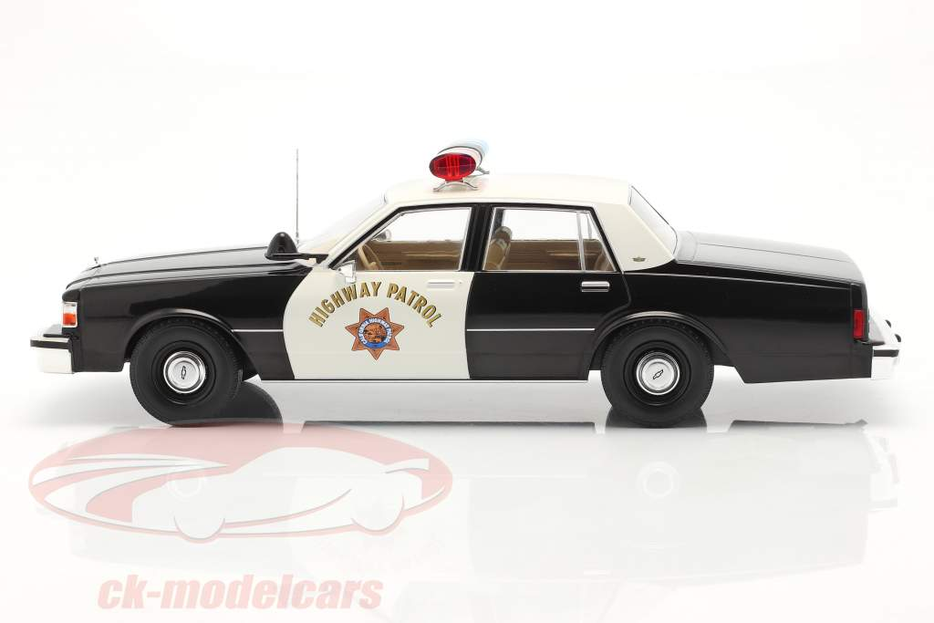 Chevrolet Caprice Highway Patrol 1987 nero / bianca 1:18 Model Car Group