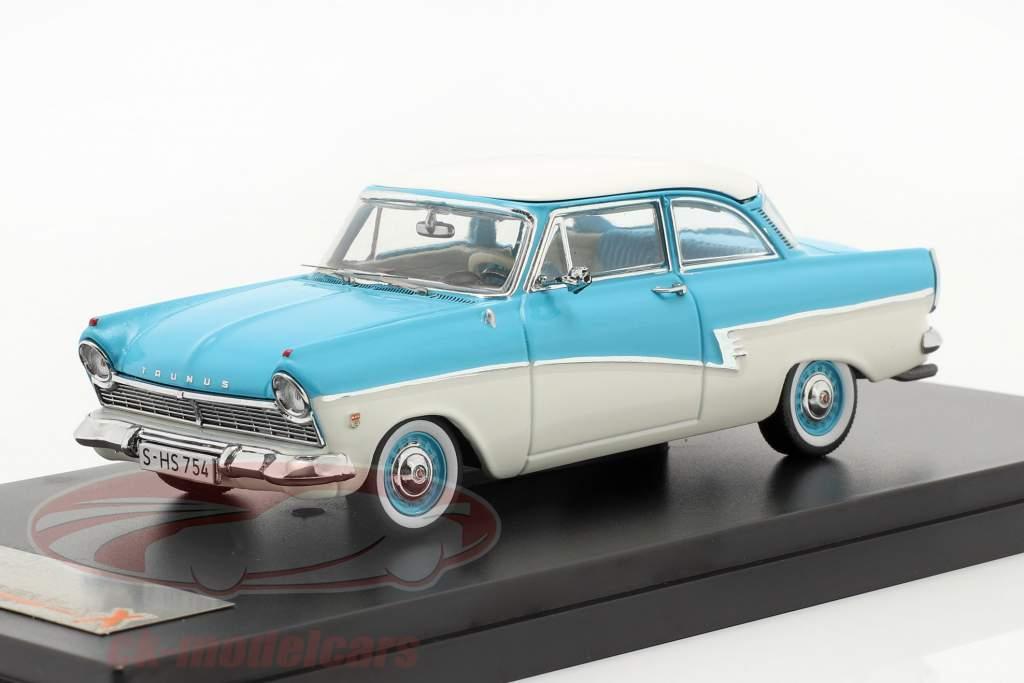 Ford Taunus 17M år 1957 blå / hvid 1:43 Premium X
