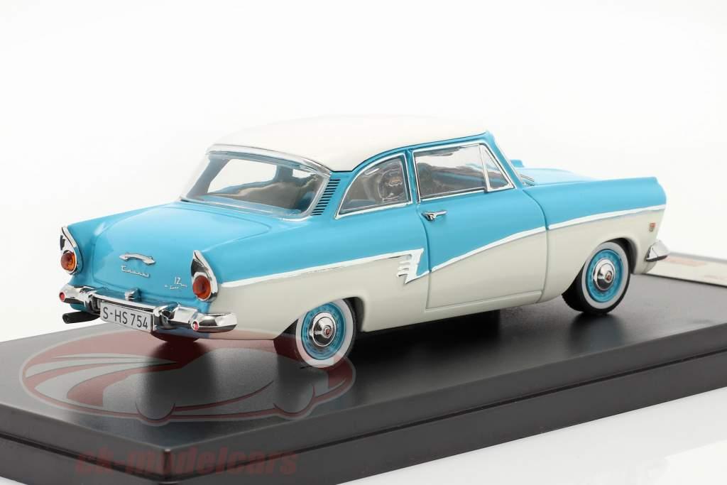 Ford Taunus 17M año 1957 azul / blanco 1:43 Premium X