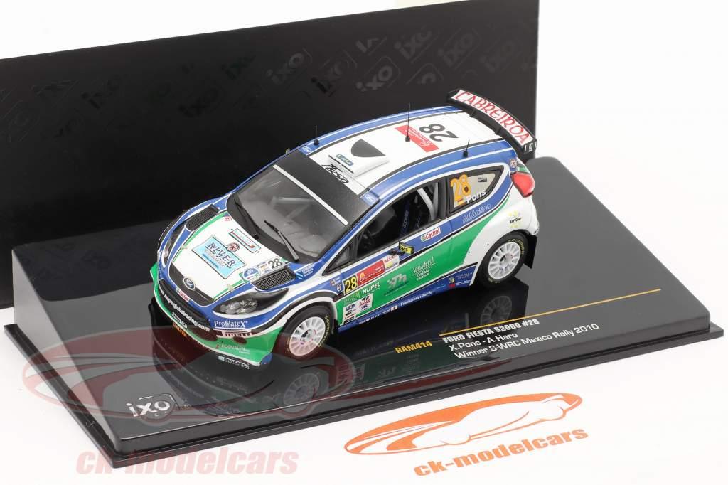 Ford Fiesta S2000 #28 X.Pons / A.Haro Winnaar S-WRC Mexico Rally 2010 1:43 Ixo