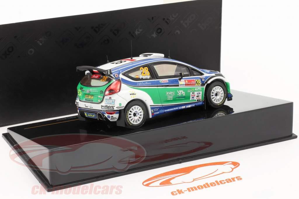 Ford Fiesta S2000 N° 28 X.Pons / A.Haro Winner S-WRC Rally Mexico 2010 1:43 Ixo