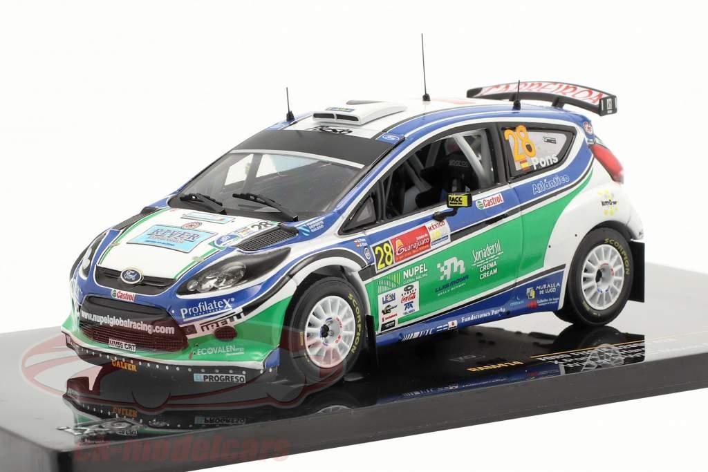 Ford Fiesta S2000 #28 X.Pons / A.Haro Ganador S-WRC Rally Mexico 2010 1:43 Ixo