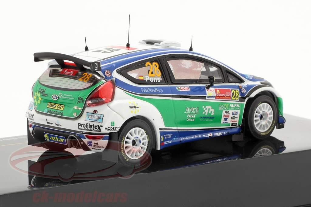 Ford Fiesta S2000 #28 X.Pons / A.Haro Vencedor S-WRC Rally Mexico 2010 1:43 Ixo