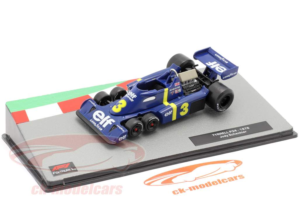 Jody Scheckter Tyrrell P34 #3 formel 1 1976 1:43 Altaya