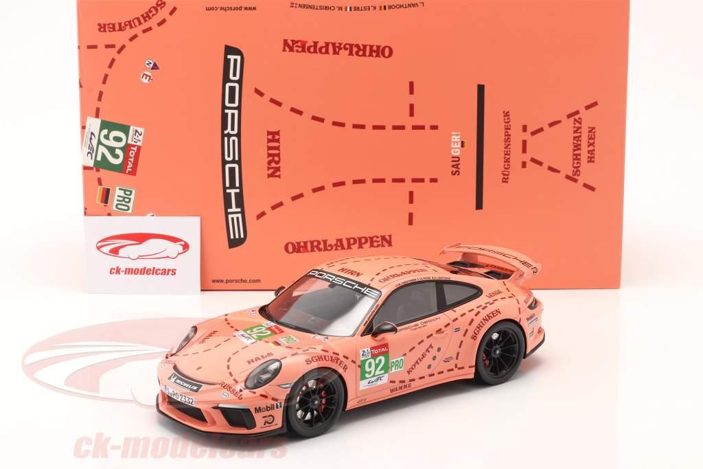 Porsche 911 (991 II) GT3 truie / Pink Pig conception Taxi Leipzig 1:18 Spark