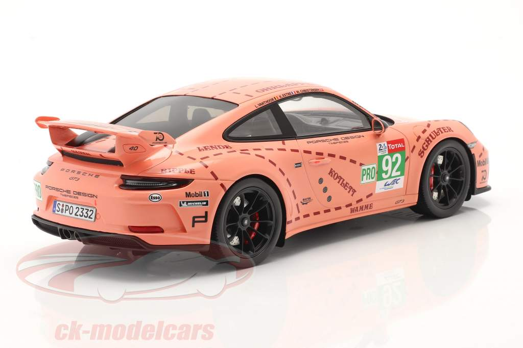 Porsche 911 (991 II) GT3 zeug / Pink Pig ontwerp taxi Leipzig 1:18 Spark