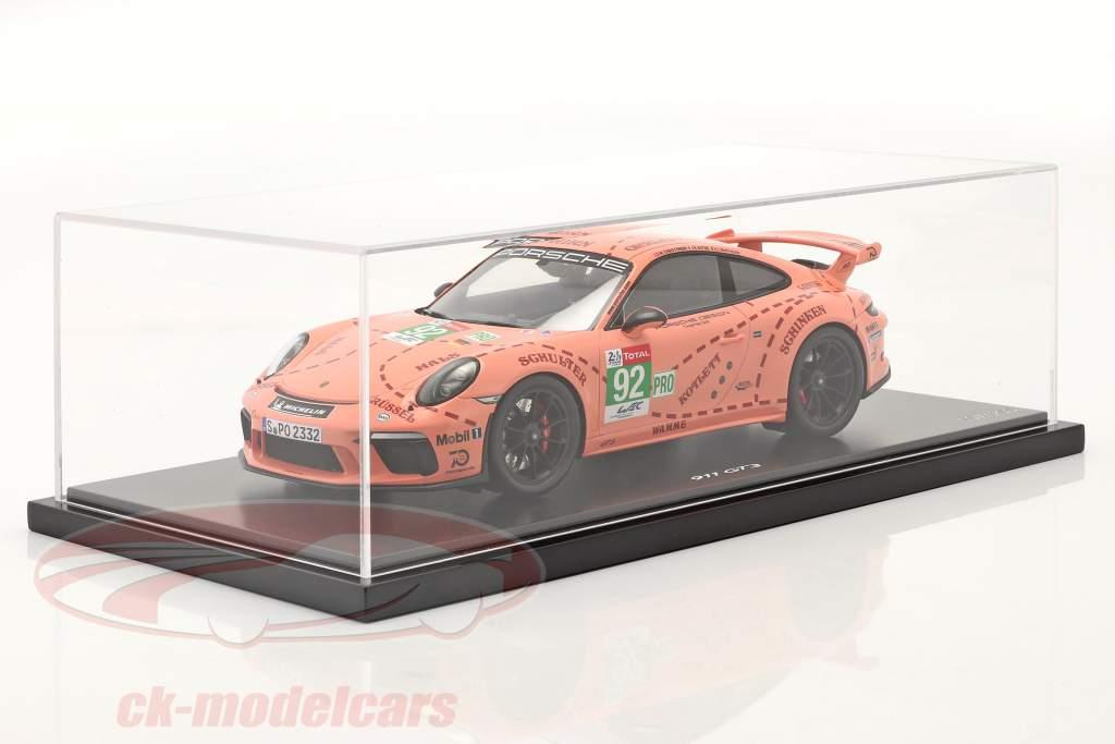 Porsche 911 (991 II) GT3 semear / Pink Pig Projeto Táxi Leipzig 1:18 Spark