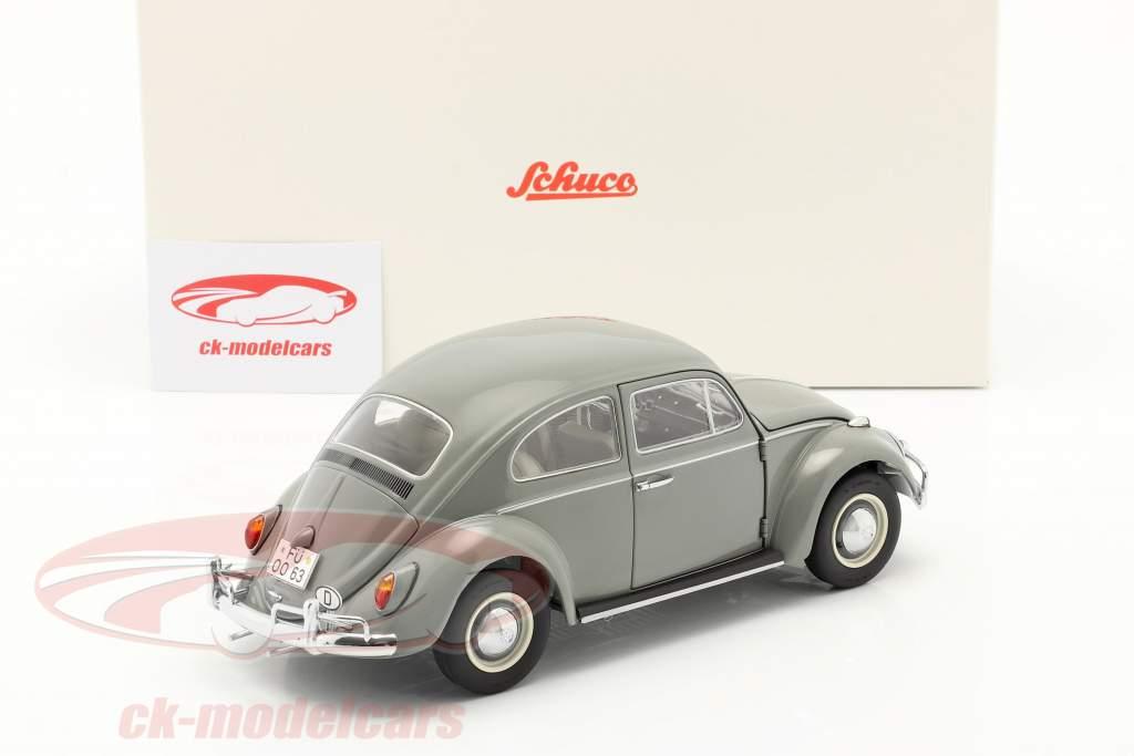 Volkswagen VW Kever Bouwjaar 1963 Grijs 1:18 Schuco