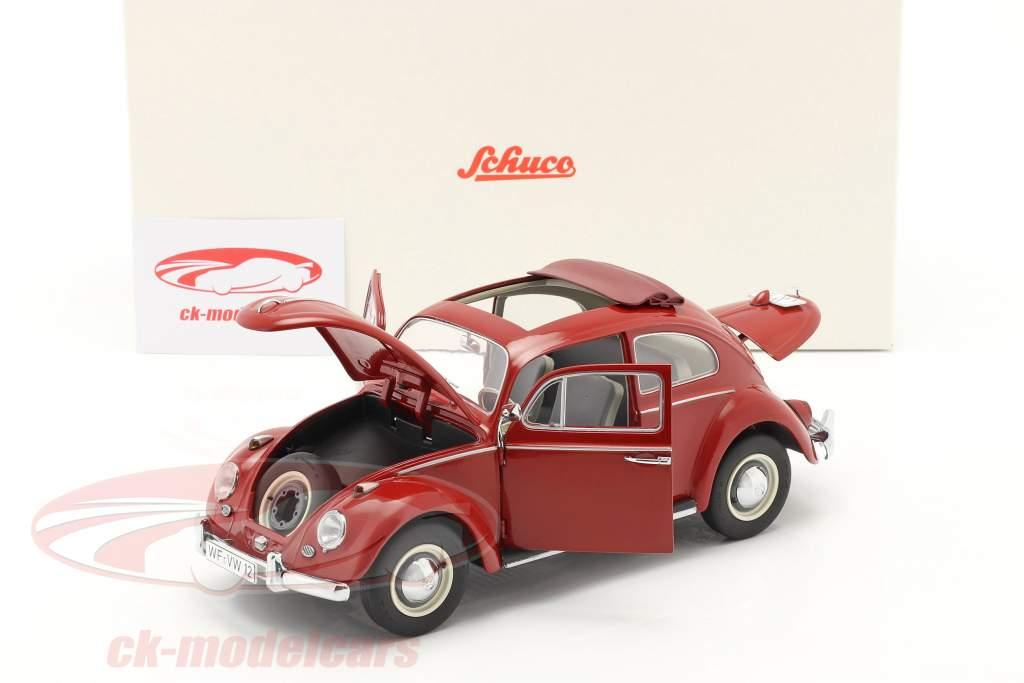 Volkswagen VW Käfer mit Faltdach Baujahr 1963 rot 1:18 Schuco