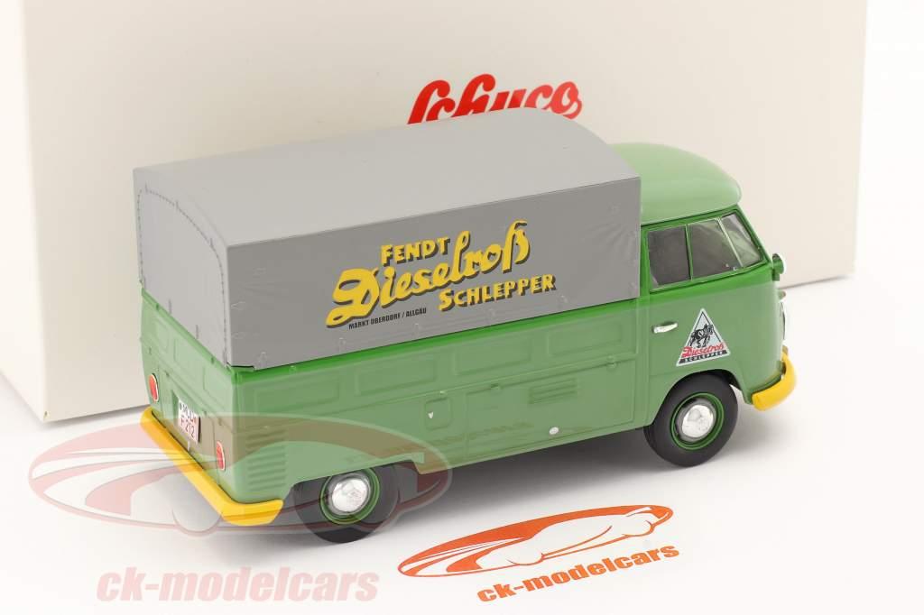 Volkswagen VW Escribe 2 T1b Camioneta Con Planes verde 1:32 Schuco
