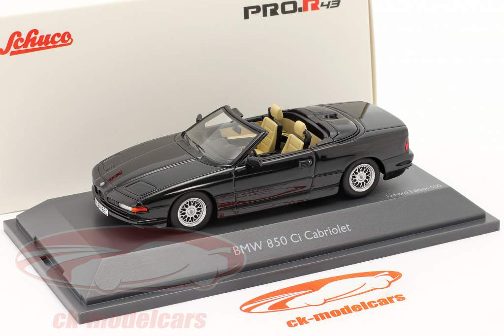 BMW 850 CI Cabriolet (E31) schwarz 1:43 Schuco