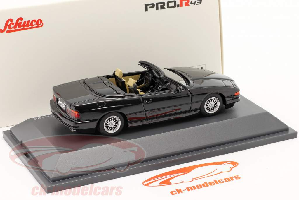 BMW 850 CI Convertibile (E31) nero 1:43 Schuco