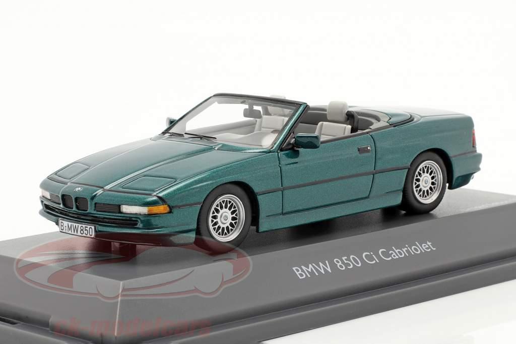 BMW 850 CI Converteerbaar (E31) groen metalen 1:43 Schuco