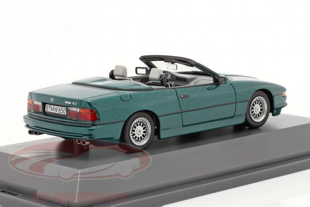 BMW 850 CI Cabriolet (E31) grøn metallisk 1:43 Schuco