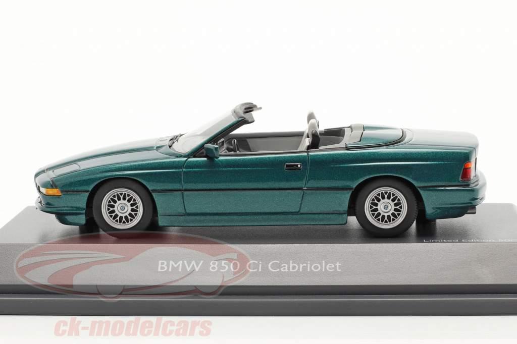 BMW 850 CI Conversível (E31) verde metálico 1:43 Schuco