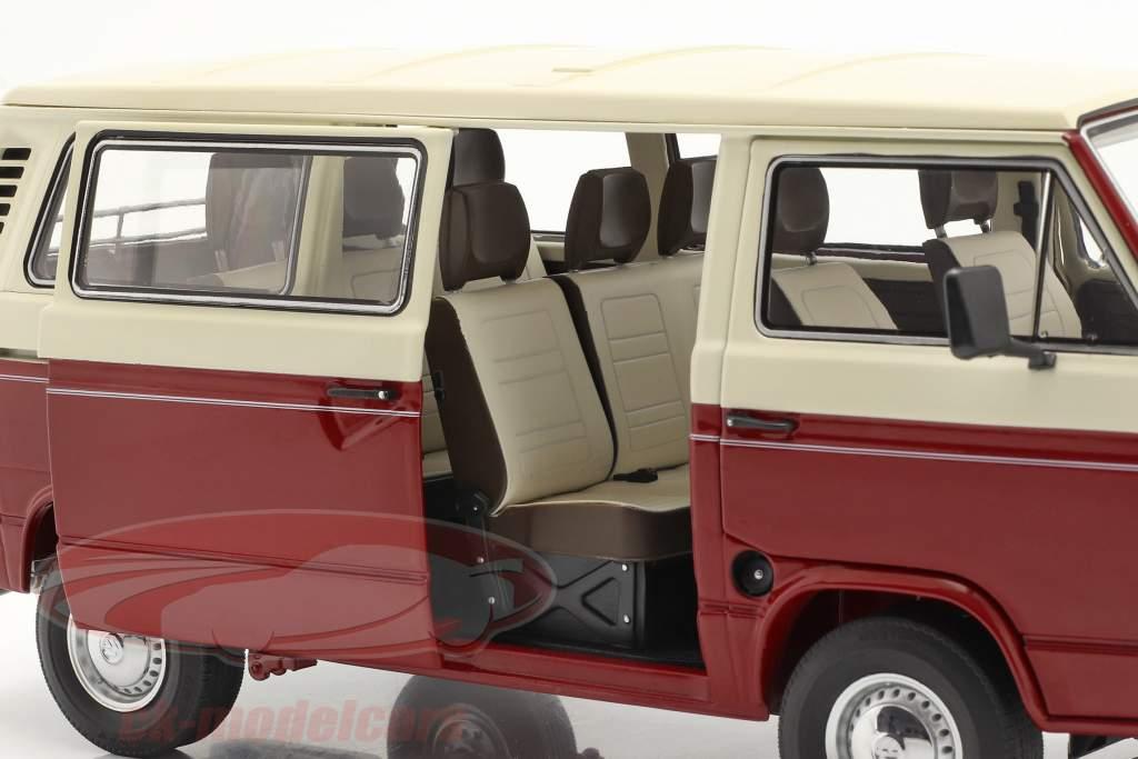 Volkswagen VW T3a Transporter red / cream white 1:18 Schuco