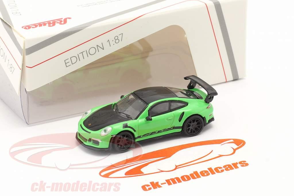 Porsche 911 (991) GT3 RS grün / schwarz 1:87 Schuco