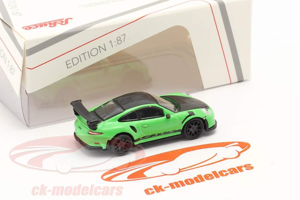 Porsche 911 (991) GT3 RS groen / zwart 1:87 Schuco
