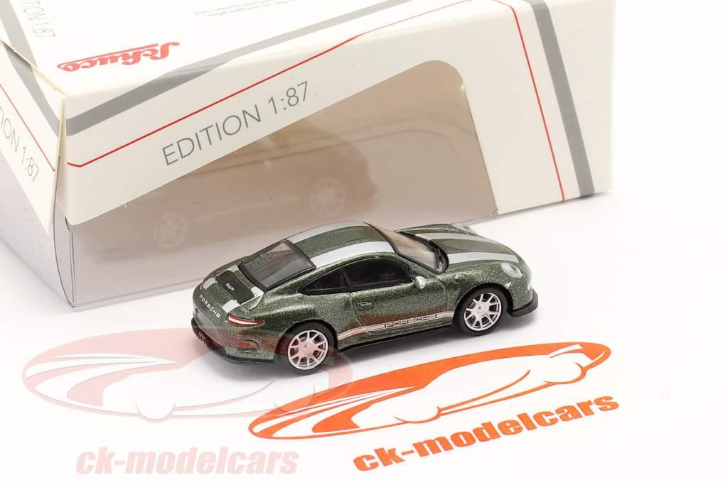 Porsche 911 (991) R groen metalen 1:87 Schuco