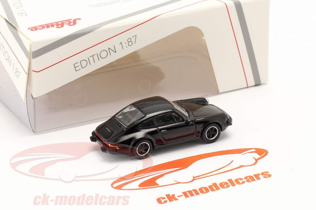 Porsche 911 Carrera 3.2 Coupe schwarz 1:87 Schuco