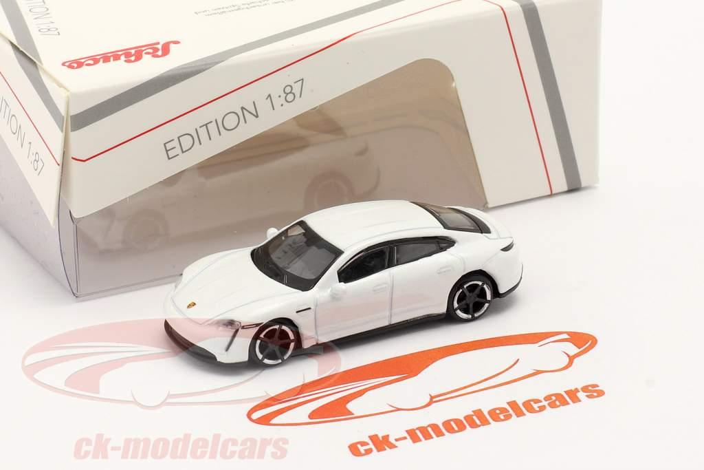 Porsche Taycan Turbo S hvid 1:87 Schuco