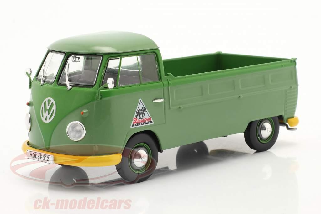 Volkswagen VW Typ 2 T1b Pritschenwagen mit Plane grün 1:32 Schuco