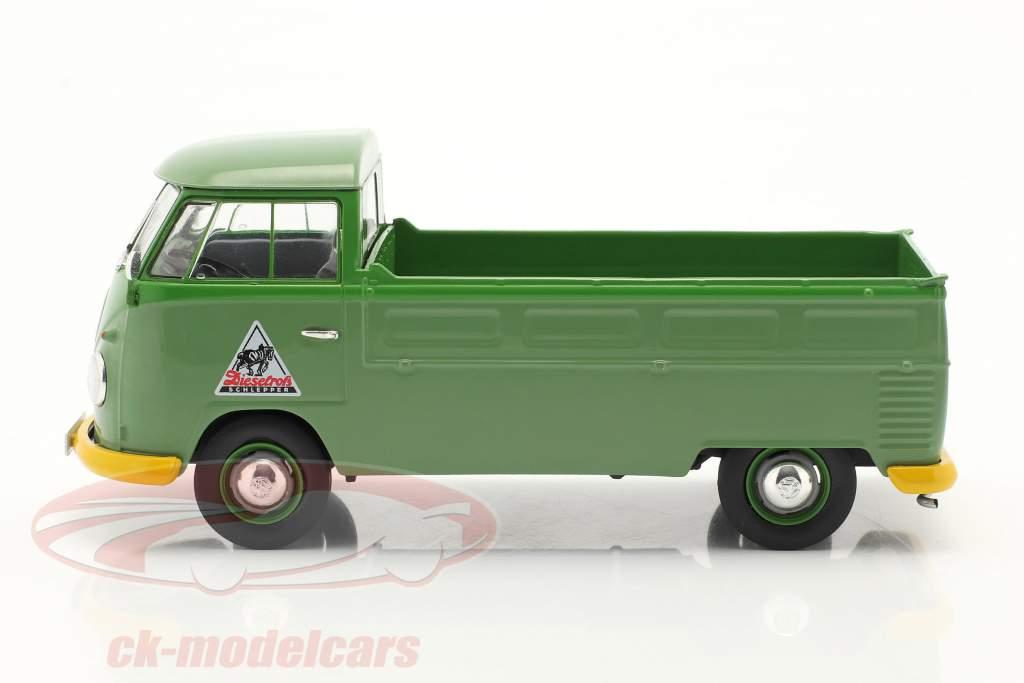 Volkswagen VW Type 2 T1b Pick-up truck Met Plannen groen 1:32 Schuco