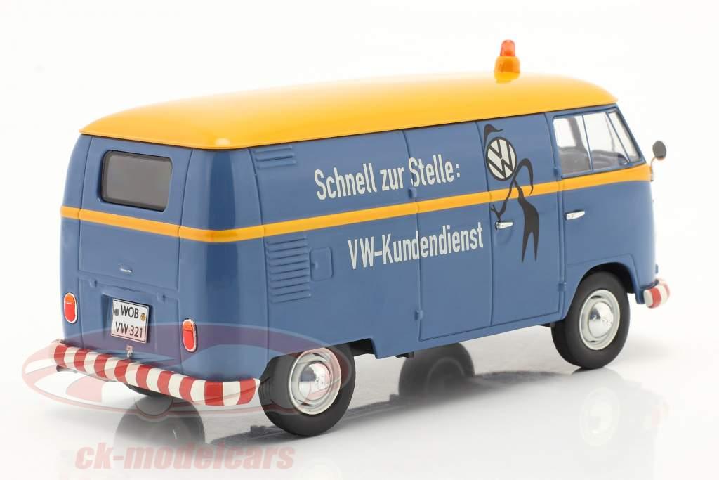 Volkswagen VW Type 2 T1b Van VW customer service blue / yellow 1:32 Schuco