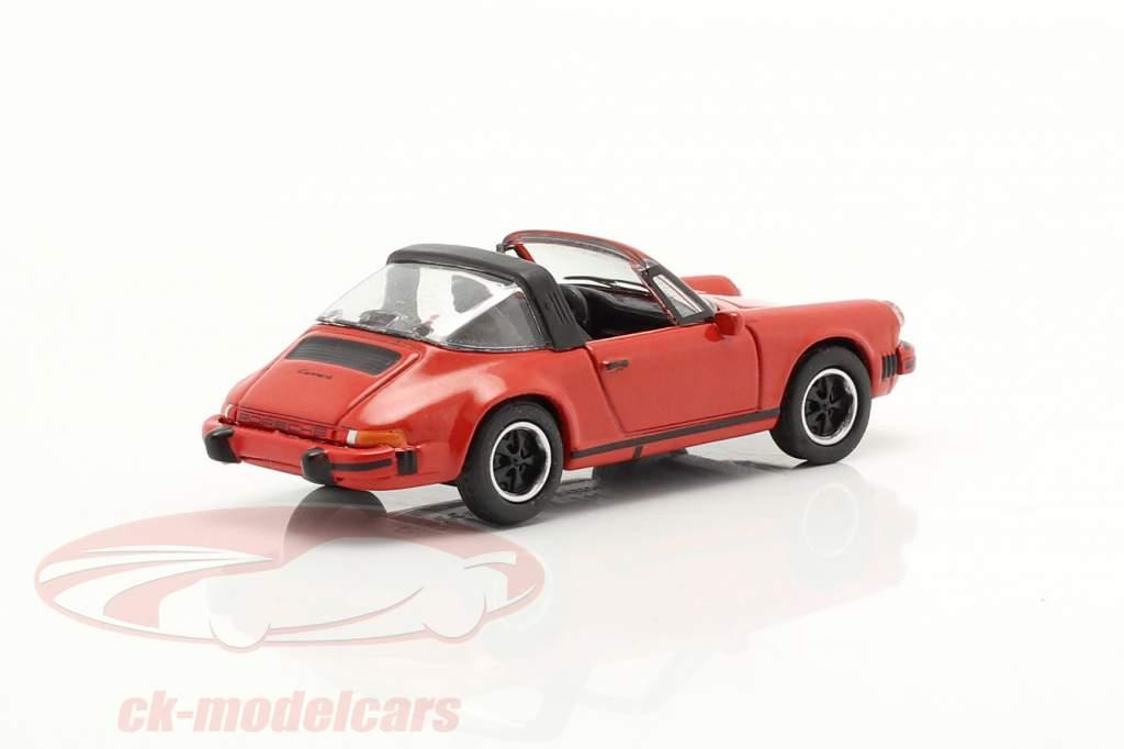 Porsche 911 Carrera 3.2 Targa vermelho 1:87 Schuco