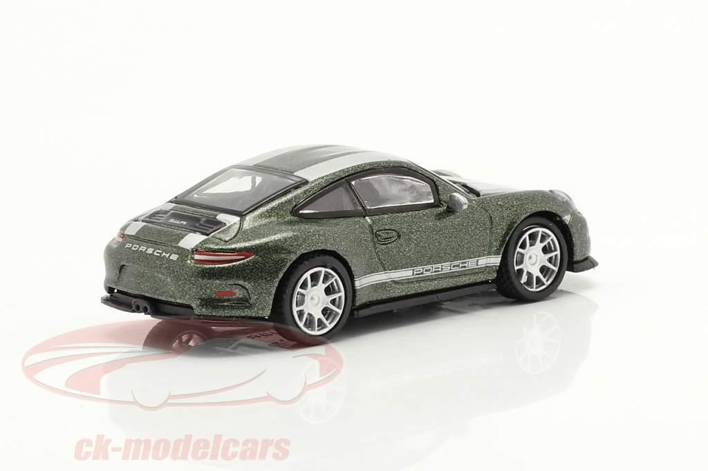 Porsche 911 (991) R green metallic 1:87 Schuco