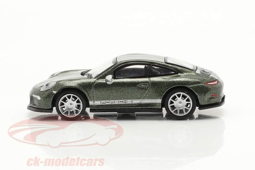 Porsche 911 (991) R grøn metallisk 1:87 Schuco