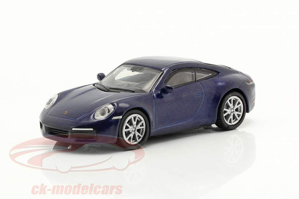 Porsche 911 (992) Carrera S Coupe blue metallic 1:87 Schuco