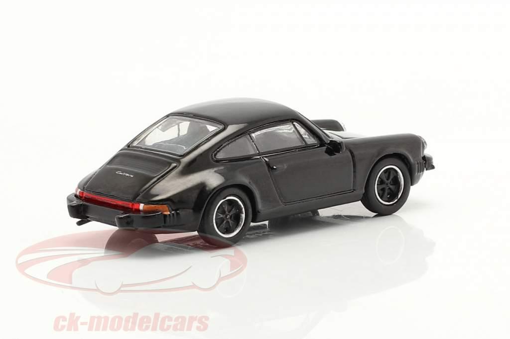 Porsche 911 Carrera 3.2 Coupe Preto 1:87 Schuco