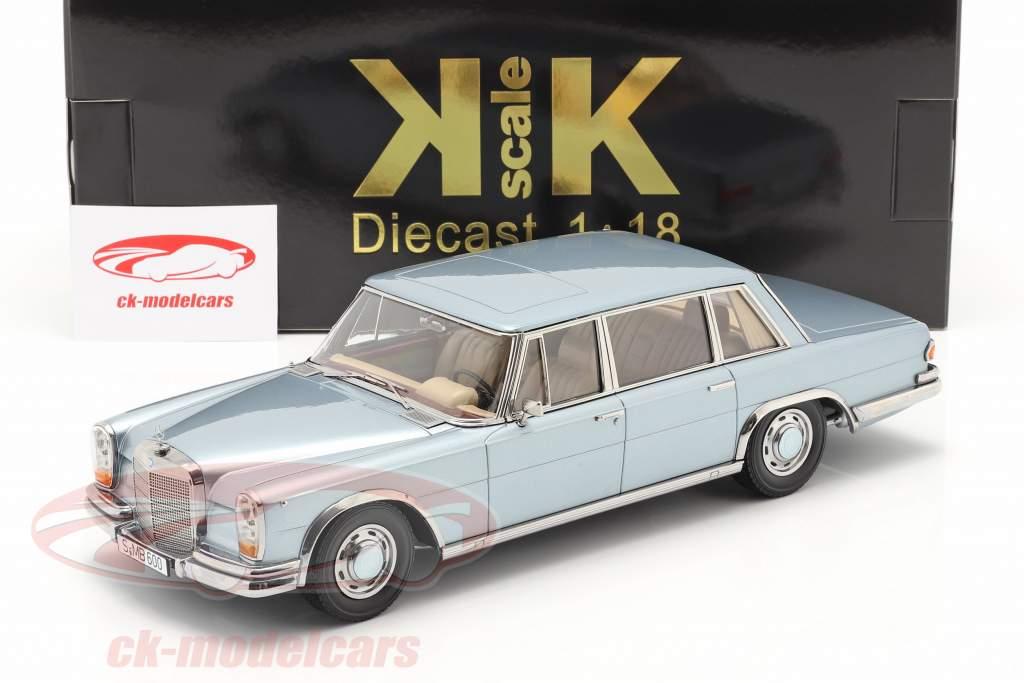 Mercedes-Benz 600 SWB (W100) Byggeår 1963 Lyseblå metallisk 1:18 KK-Scale