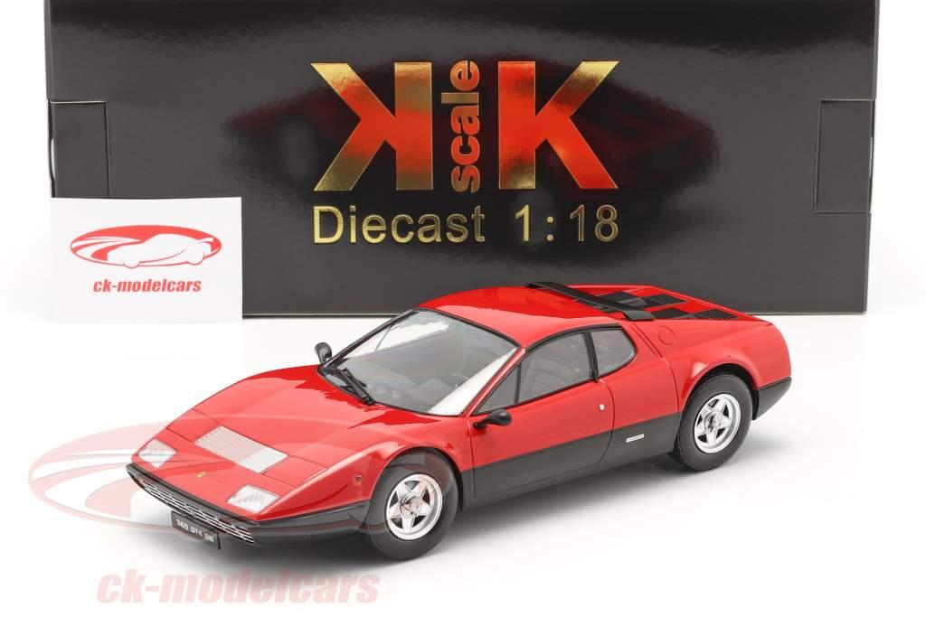 Ferrari 365 GT4 BB Byggeår 1973 rød 1:18 KK-Scale