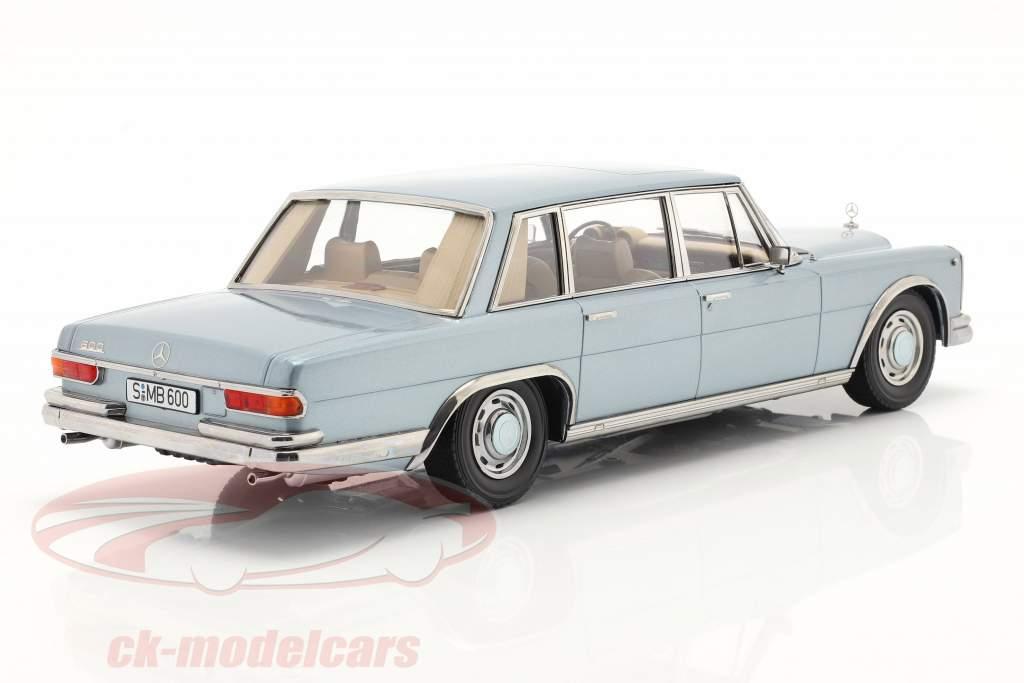 Mercedes-Benz 600 SWB (W100) Année de construction 1963 Bleu clair métallique 1:18 KK-Scale