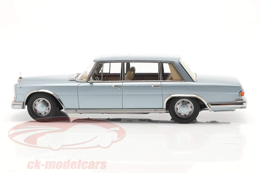 Mercedes-Benz 600 SWB (W100) Anno di costruzione 1963 Azzurro metallico 1:18 KK-Scale