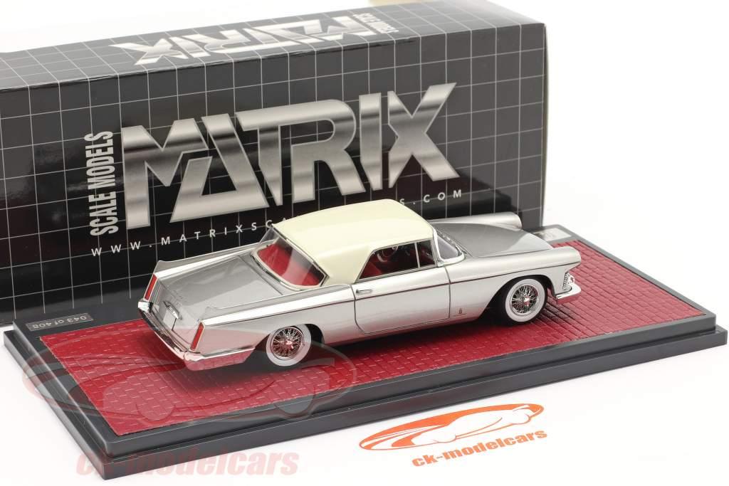 Cadillac Skylight Pininfarina Closed Convertible 1959 zilver 1:43 Matrix