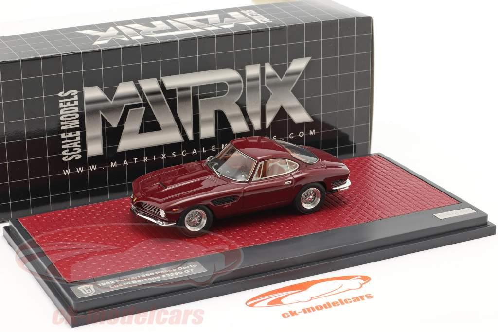 Ferrari 250 GT Berlinetta Passo Corto Lusso Bertone 1962 rotbraun 1:43 Matrix