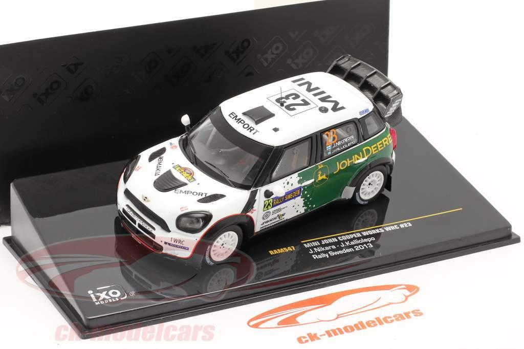 Mini John Cooper Works WRC #23 se rallier Schweden 2013 Nikara, Kalliolepo 1:43 Ixo