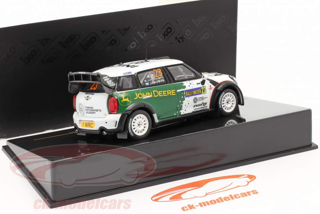 Mini John Cooper Works WRC #23 samle Schweden 2013 Nikara, Kalliolepo 1:43 Ixo