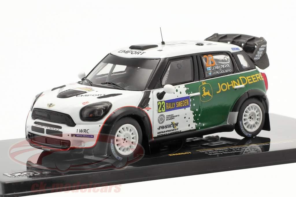 Mini John Cooper Works WRC #23 corrida Schweden 2013 Nikara, Kalliolepo 1:43 Ixo
