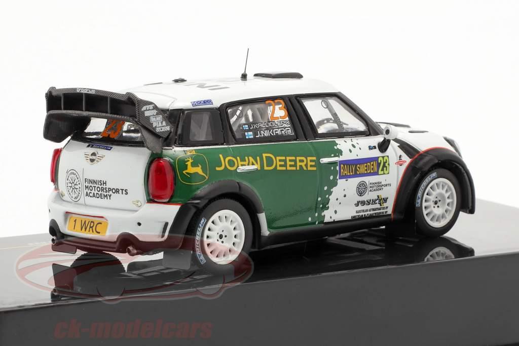 Mini John Cooper Works WRC #23 reunión Schweden 2013 Nikara, Kalliolepo 1:43 Ixo