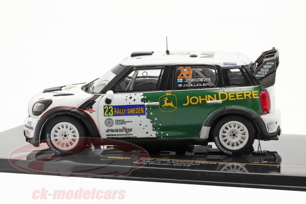 Mini John Cooper Works WRC #23 rally Schweden 2013 Nikara, Kalliolepo 1:43 Ixo