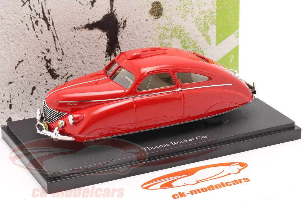 Thomas Rocket Car year 1938 red 1:43 AutoCult