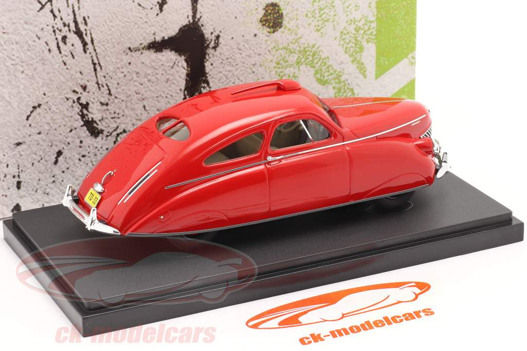Thomas Rocket Car årgang 1938 rød 1:43 AutoCult